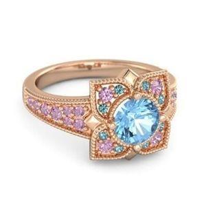 Rose Gold Flower Petals Ring